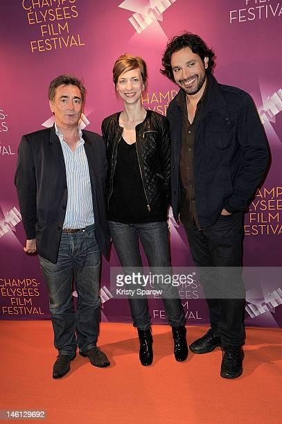 Artus de Penguern, Natacha Lindinger and Bruno Salomone attend the 'La Clinique De L'Amour' premiere during the Champs-Elysees Film Festival at UCG...