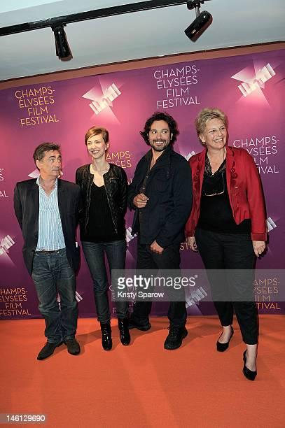 Artus de Penguern, Natacha Lindinger, Bruno Salomone and Sophie Dulac attend the 'La Clinique De L'Amour' premiere during the Champs-Elysees Film...