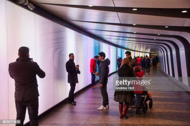 artwork at lumiere london light festival 2016. - european culture stock pictures, royalty-free photos & images