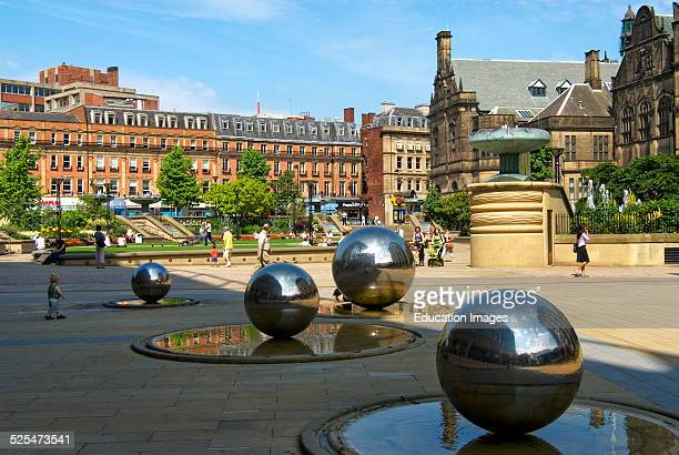 Artwork at Sheffield Town Hall, England.
