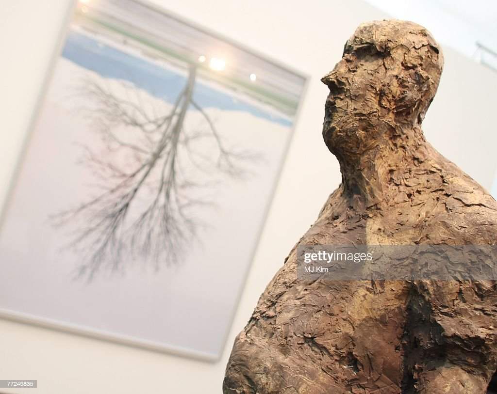Artwork by Hans Josephsohn is displayed at the Frieze Art Fair on... News Photo - Getty Images