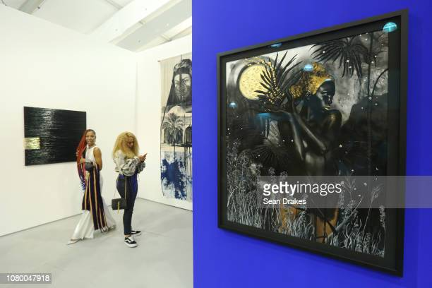 Artwork by Lina Iris Viktor presented by Mariane Ibrahim of Seattle at Untitled Art as part of the 2018 Art Basel Miami Beach on December 8 2018 in...