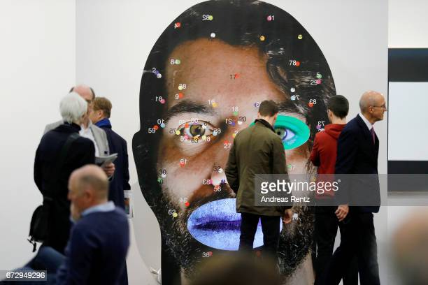 Artwork is on display during the Art Cologne press conference and exhibition preview at Koelnmesse on April 25 2017 in Cologne Germany The fair Art...