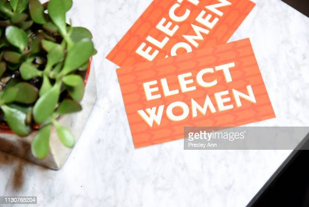 Artwork is seen during Raising Our Voices Supporting More Women in Hollywood Politics at Four Seasons Hotel Los Angeles in Beverly Hills on February...