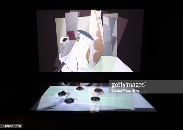 Artwork 'Nature morte cubiste' created by Maria Blanchard in 1919 is seen during the 'Intangibles' exhibition, a digital event of Colección...