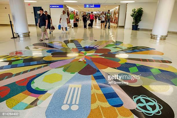 Artwork on the floor of LambertSt Louis International Airport
