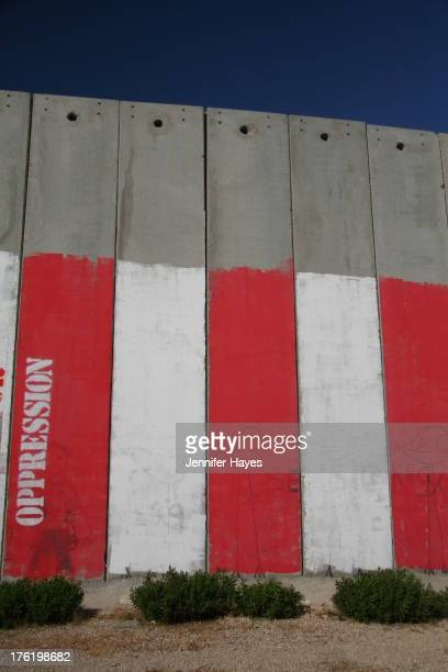 "Artwork on the ""Separation Barrier,"" Bethlehem, West Bank, Palestine."