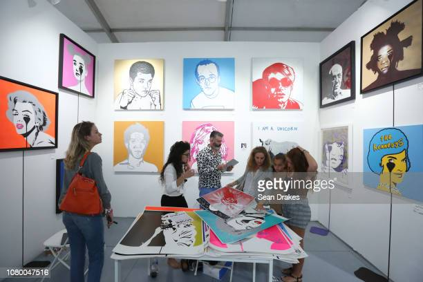 Artwork presented by Pure Kill on exhibit at Scope Art Fair as part of the 2018 Art Basel Miami Beach on December 8 2018 in Miami Beach Florida