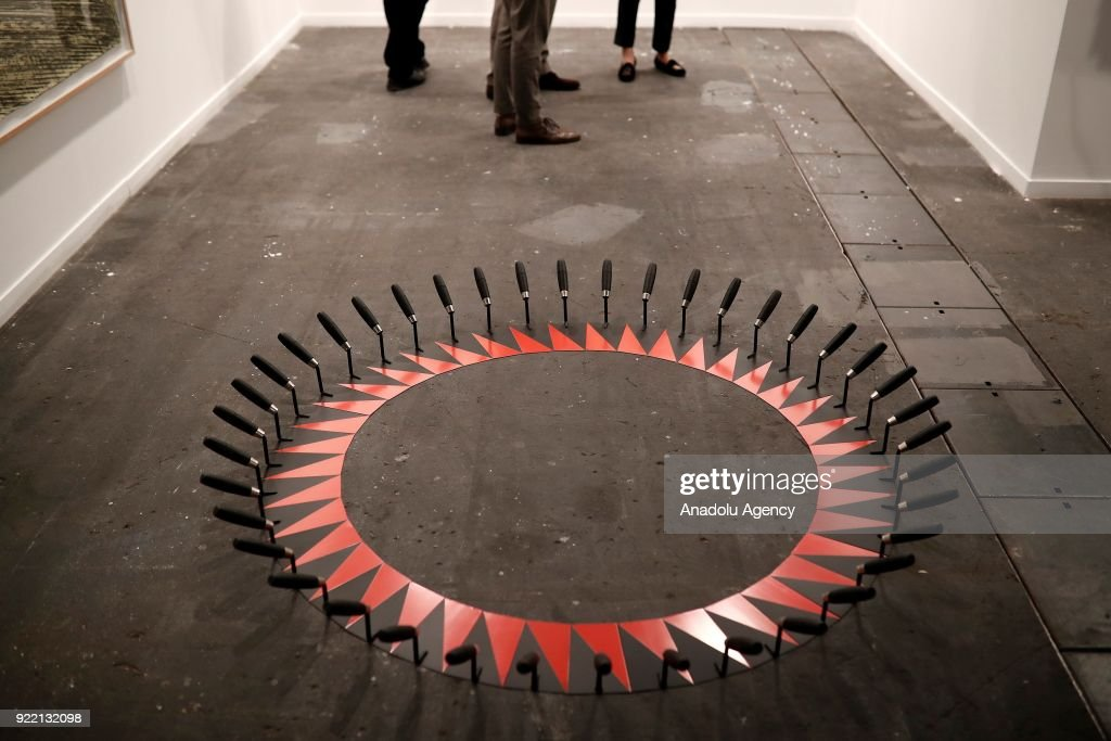 Artworks are displayed during ARCOmadrid 2018 in Madrid, Spain on February 21, 2018.