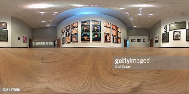 Artworks by Andy Warhol are displayed at the Ashmolean Museum on February 2 2016 in Oxford England The work forms part of a new exhibition entitled...