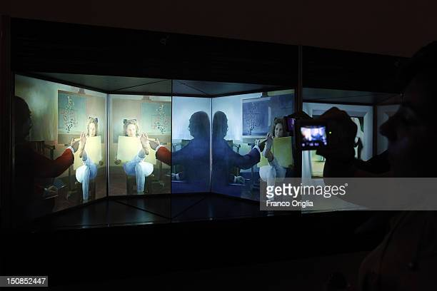 Artworks by Salvador Dali are displayed at the TeatreMuseu Gala Salvador Dali on August 19 2012 in Figueras Spain Figueras is the birthplace of...