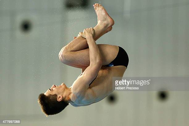 Artyom Danilov of Azerbaijan competes in the Diving Men's Platform Final during day nine of the Baku 2015 European Games at the Baku Aquatics Centre...