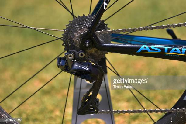 Artyom Zakharov of Kazakhstan and Astana Pro Team / Argon 18 Bike Astana Pro Team / Shimano Dura-Ace Derailleur pulley /Detail view / during the 21st...