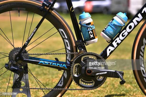 Artyom Zakharov of Kazakhstan and Astana Pro Team / Argon 18 Bike Astana Pro Team / FSA Crankset / Shimano Dura-Ace Derailleur pulley /Detail view /...