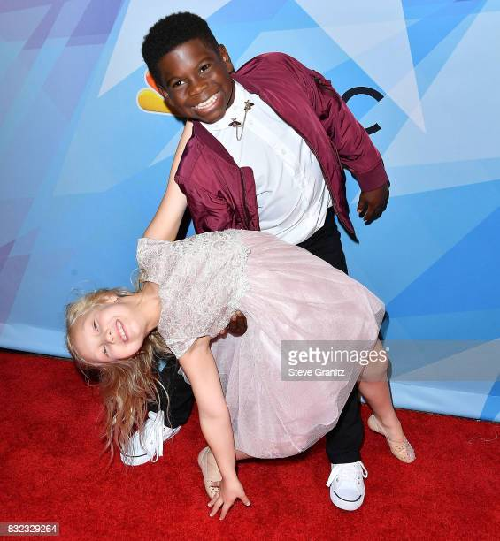 Artyon and Paige arrives at the Premiere Of NBC's 'America's Got Talent' Season 12 at Dolby Theatre on August 15 2017 in Hollywood California