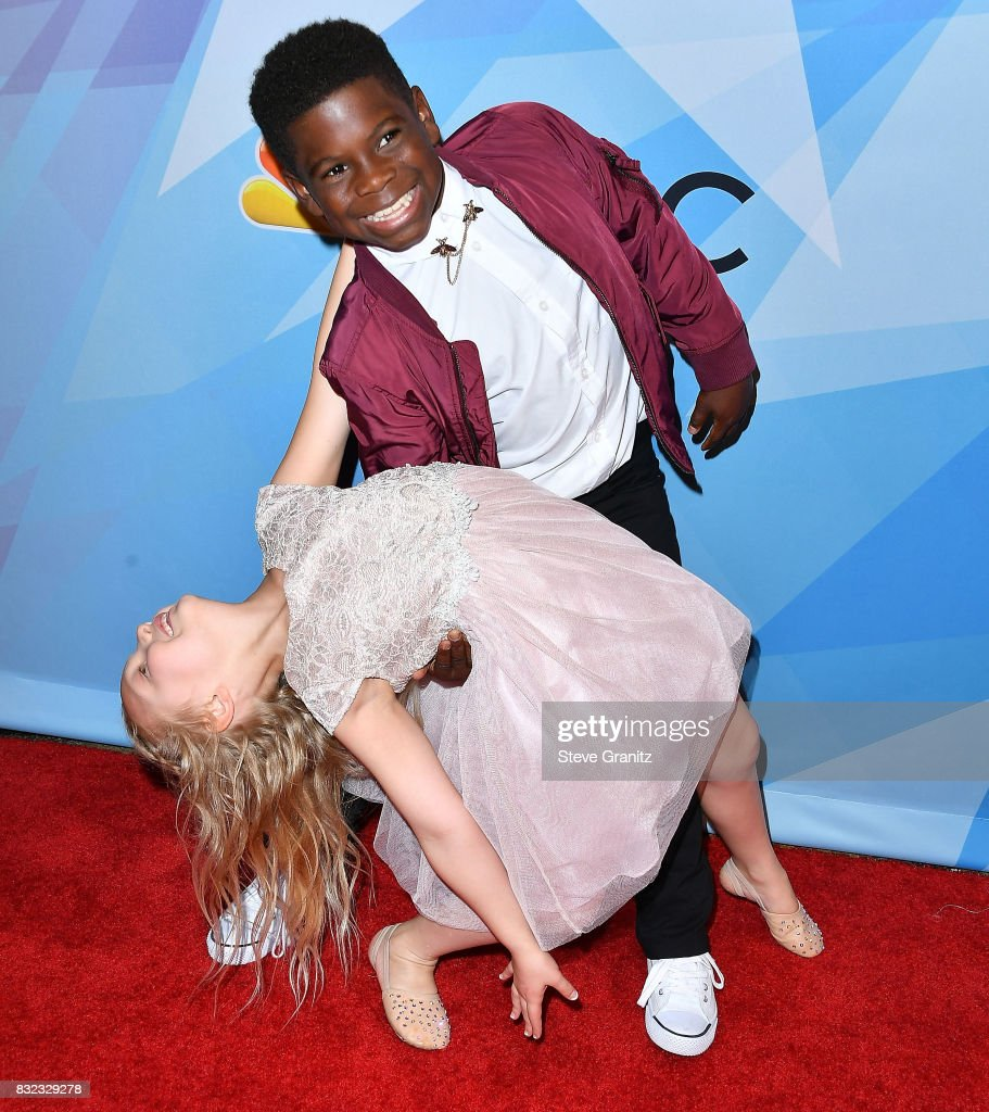 Artyon and Paige arrives at the Premiere Of NBC's 'America's Got Talent' Season 12 at Dolby Theatre on August 15, 2017 in Hollywood, California.