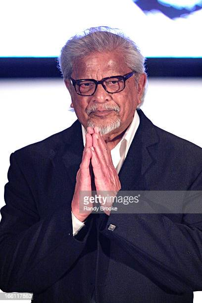 Arun Gandhi grandson of Mahatma Gandhi attends the 2013 From Scotland With Love Charity Fashion Show at Stage 48 on April 8 2013 in New York City