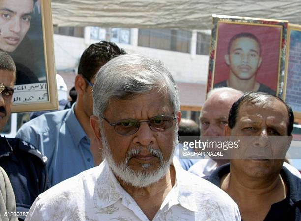 Arun Gandhi the grandson of India's pacifist independence leader Mahatma Gandhi take part in a demonstration in support of Palestinian held in...