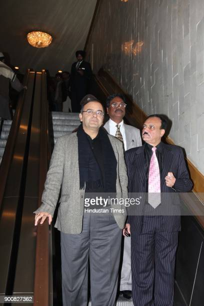 Arun Jaitley coming out after BCCI meeting on January 8 2008 in New Delhi India