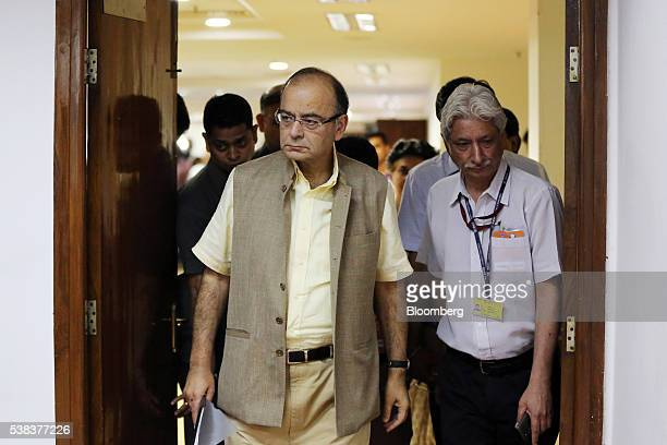 Arun Jaitley India's finance minister arrives at a news conference in New Delhi India on Monday June 6 2016 India's staterun banks should be...