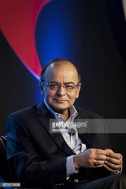 Arun Jaitley India's finance minister listens during the ET Global Business Summit in New Delhi India on Saturday Jan 30 2016 Most opposition parties...