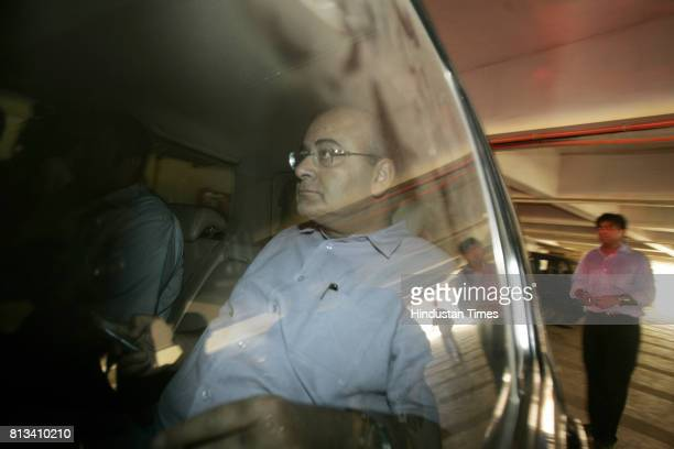 Arun Jaitley leave from the BCCI headquaters after the board meeting Mumbai