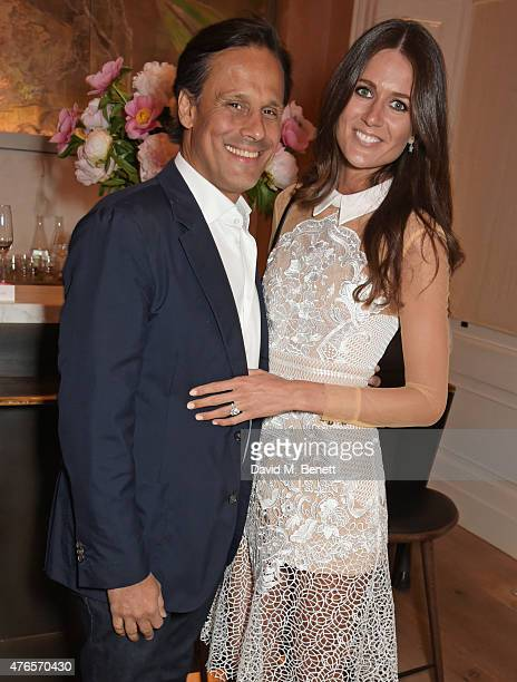 Arun Nayar and Kim Johnson attend a private dinner in celebration of the Carolyn Murphy and cheekfrills collaboration at Spring at Somerset House on...