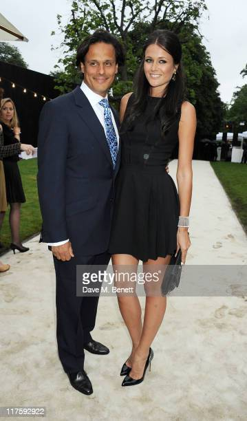 Arun Nayar and Kim Johnson attend the Burberry Serpentine Summer Party at The Serpentine Gallery on June 28 2011 in London England