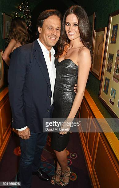 Arun Nayar and Kim Johnson attend the David Morris and Agent Provocateur drinks reception hosted by Jeremy Morris and Lisa Tchenguiz at Annabel's on...