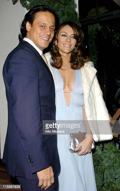 Arun Nayer and Elizabeth Hurley during Project Catwalk TV Launch Party at San Lorenzo in London Great Britain