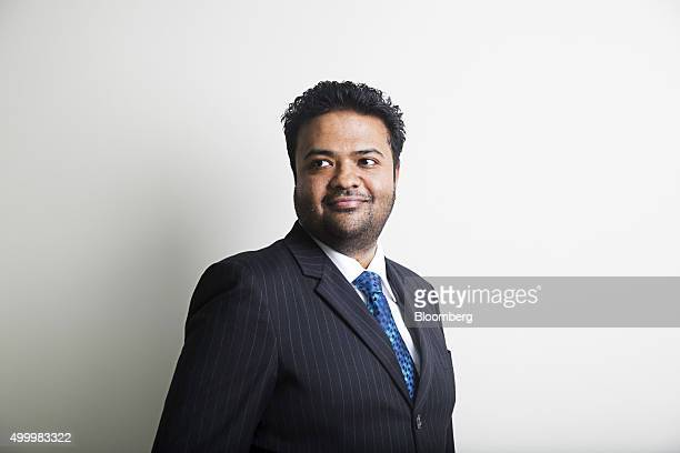 Arun Pudur president and chief executive officer at Celframe poses for a photograph before a Bloomberg Television interview at the Bloomberg ASEAN...