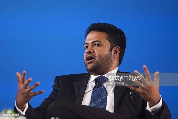 Arun Pudur president and chief executive officer at Celframe speaks at the Bloomberg ASEAN Business Summit in Bangkok Thailand on Friday Dec 4 2015...