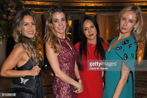 Aruna Seth Tessy Antony Vicky Lee and Nadya Abela attend The Cartier Racing Awards 2017 at The Dorchester on November 14 2017 in London England