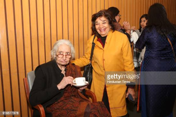 Aruna Vasudev during a launch of scholar Kavita A Sharma's book 'Life is As is Teachings from the Mahabharata' coauthored by Indu Ramchandani at...