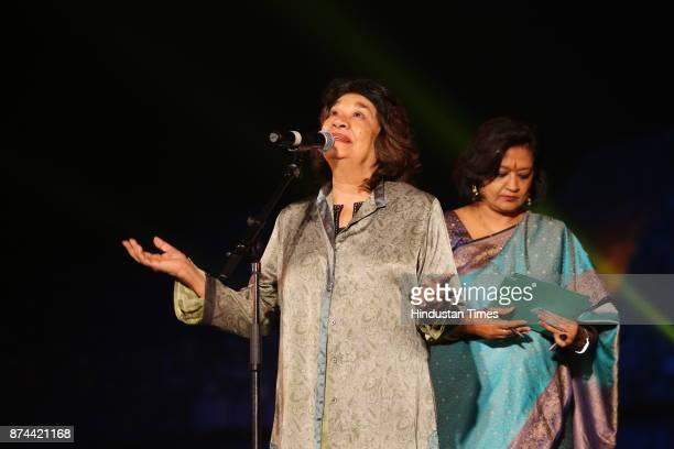 Aruna Vasudev during the 11th Delhi International Arts festival at Purana Qila on November 11 2017 in New Delhi India DIAF hosts artistes from 26...