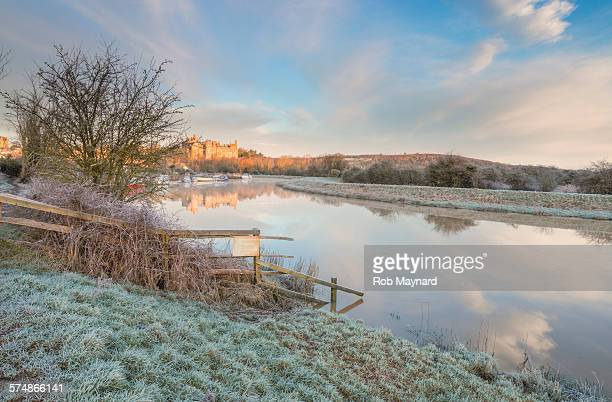 arundel castle morning - west sussex stock pictures, royalty-free photos & images