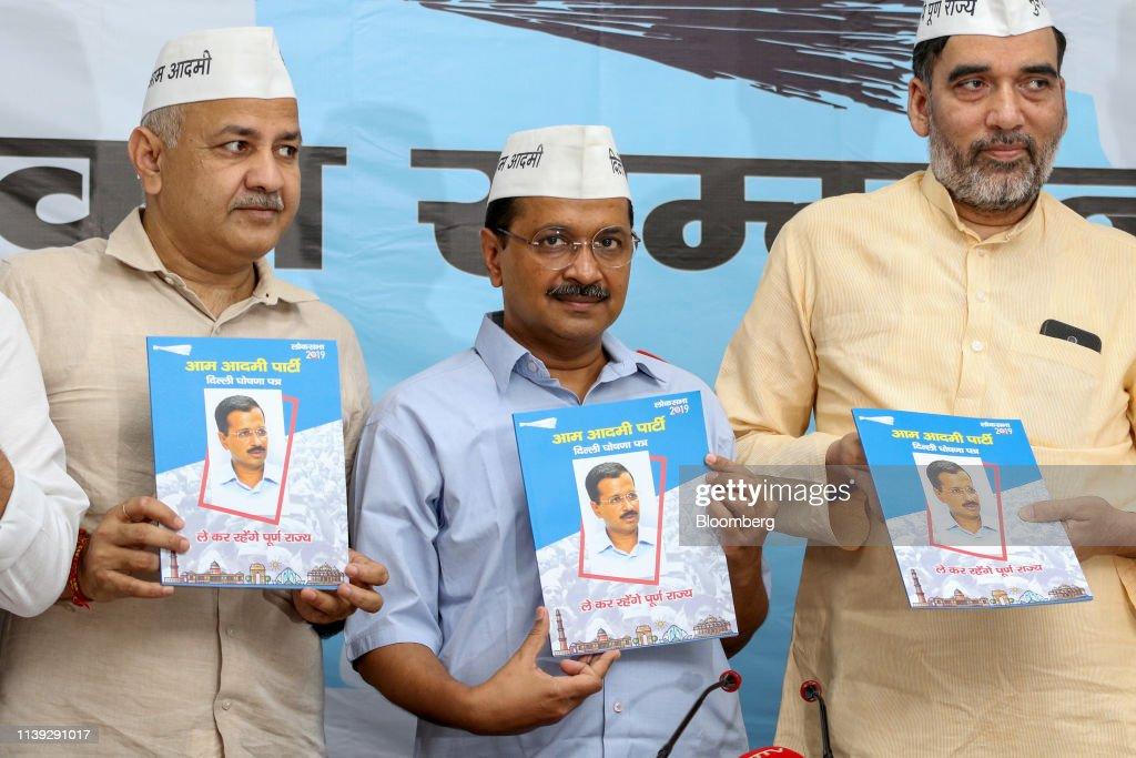 IND: Delhi Chief Minister Arvind Kejriwal Releases Aam Aadmi Party Manifesto