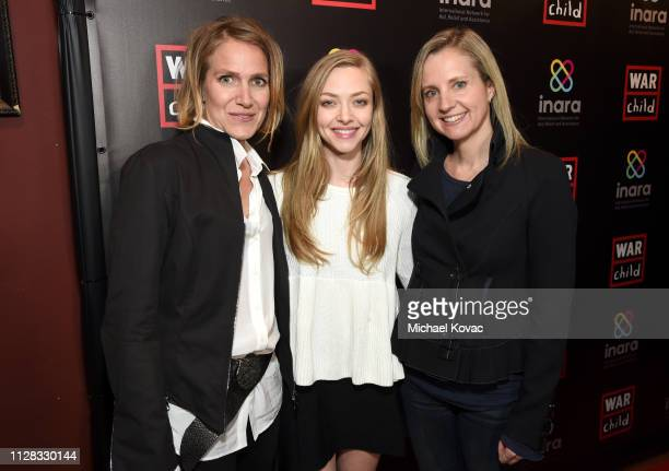 Arwa Damon Amanda Seyfried and Samantha Nutt attend the Good For A Laugh Comedy Benefit in support of children affected by war at Largo on March 1...