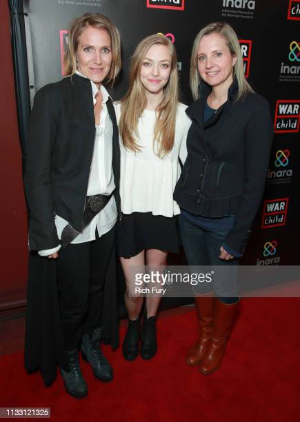 Arwa Damon Amanda Seyfried and Samantha Nutt attend the Good For A Laugh comedy fundraiser to support children affected by war at Largo At The...