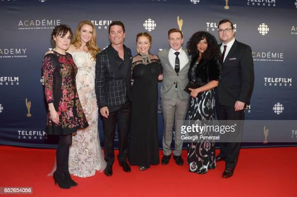 Arwen Humpreys Helene Joy Yannick Bisson Chantal Craig Lachlan Murdoch Julie Nesrallah Kristian Bruun attend 2017 Canadian Screen Awards at Sony...
