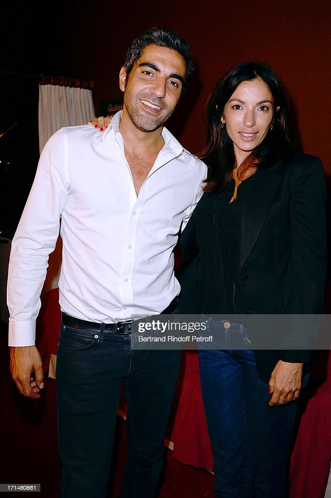 Ary Abittan and Aure Atika attend the Ary Abittan performance at Theater Edouard VII benefiting 'Un Coeur Pour La Paix' on June 24, 2013 in Paris, France.