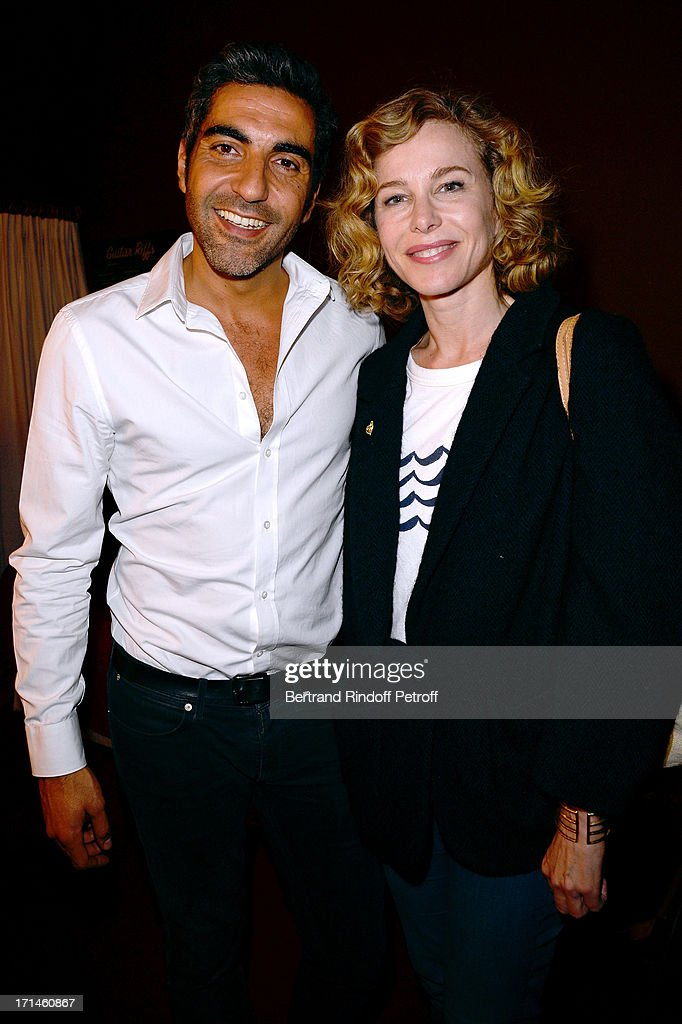 Ary Abittan and Pascale Arbillot attend the Ary Abittan performance at Theater Edouard VII benefiting 'Un Coeur Pour La Paix' on June 24, 2013 in Paris, France.