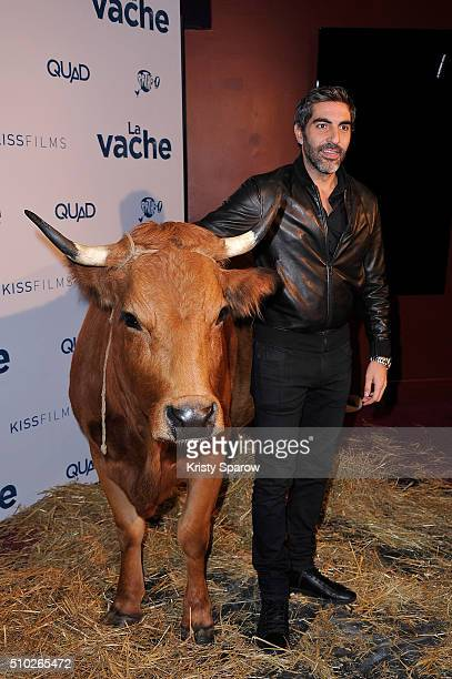 Ary Abittan attends the La Vache Paris Premiere at Pathe Wepler on February 14 2016 in Paris France