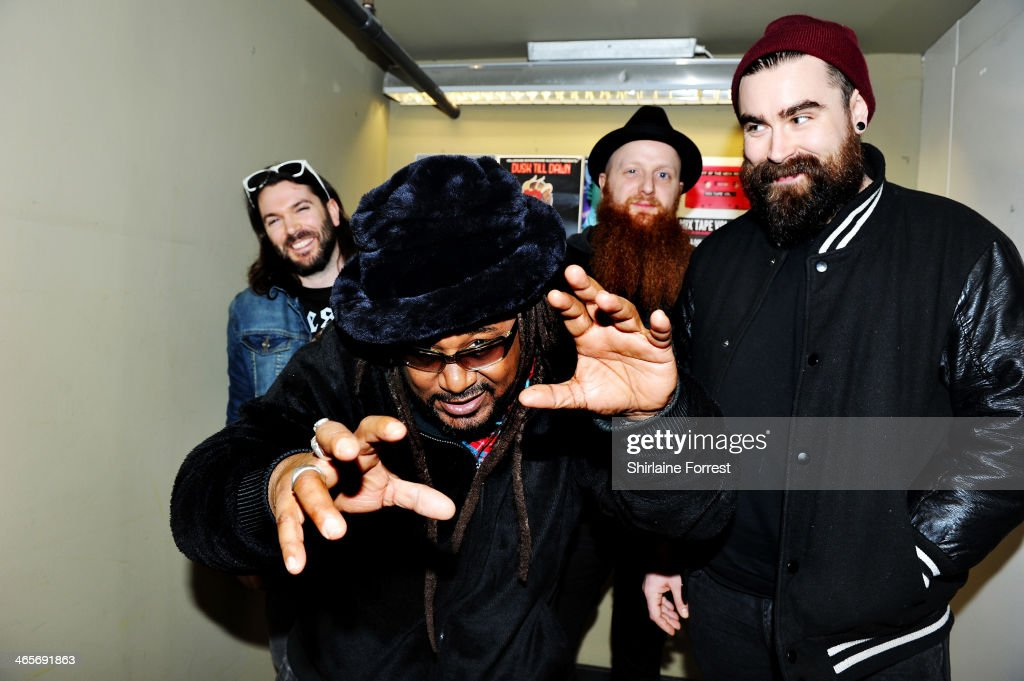 Arya Goggin, Benji Webbe, Mikey Demus and Dan Pugsley of Skindred meet fans and sign copies of their new album 'Kill The Power' at Fopp on January 28, 2014 in Manchester, England.