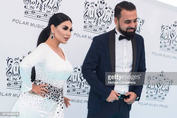 Aryana Sayeed and Hasib Said attend the 2018 Polar Music Prize award ceremony at the Grand Hotel on June 14 2018 in Stockholm Sweden