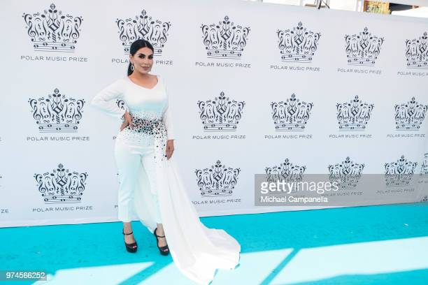 Aryana Sayeed attends the 2018 Polar Music Prize award ceremony at the Grand Hotel on June 14 2018 in Stockholm Sweden