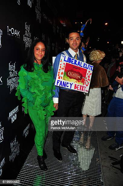Aryn DrakeLee and Jessie Williams attend HEIDI KLUM Halloween Party at 1 OAK NYC on October 31 2008