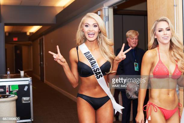 Arynn Johnson Miss Arkansas USA 2017 backstage during the MISS USA® Preliminary Competition at Mandalay Bay Convention Center on May 11 2017 in Las...