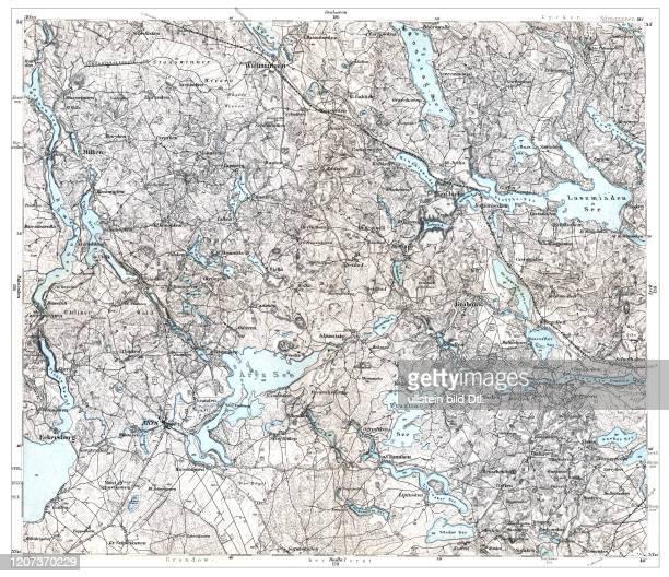 Arys-Orzysz 1893, aus: Karte des Deutschen Reiches in 660 Einzelblättern im Maßstab 1:100.000, hrsg. Vom Reichsamt für Landesaufnahme, Berlin 1893 2:2