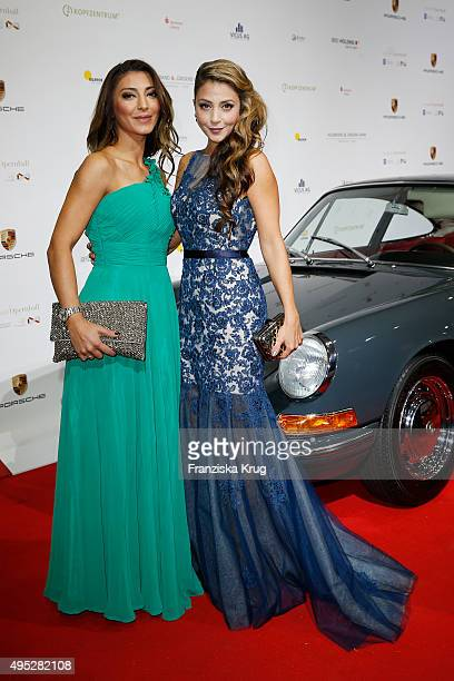 Arzu Bazman and a guest attend the Leipzig Opera Ball 2015 on October 31 2015 in Leipzig Germany